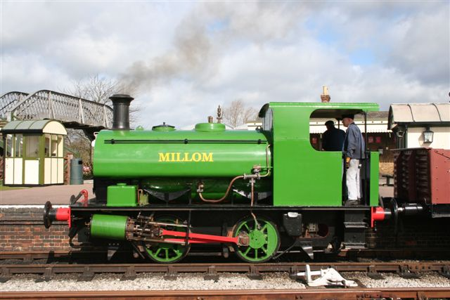 Millom on a Down Yard train shortly after a repaint