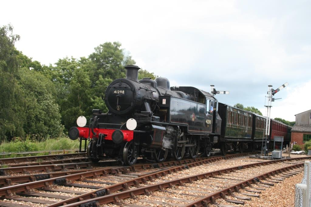 BR Ivatt Class 2MT 2-6-2T No. 41298 in service on the Isle of Wight