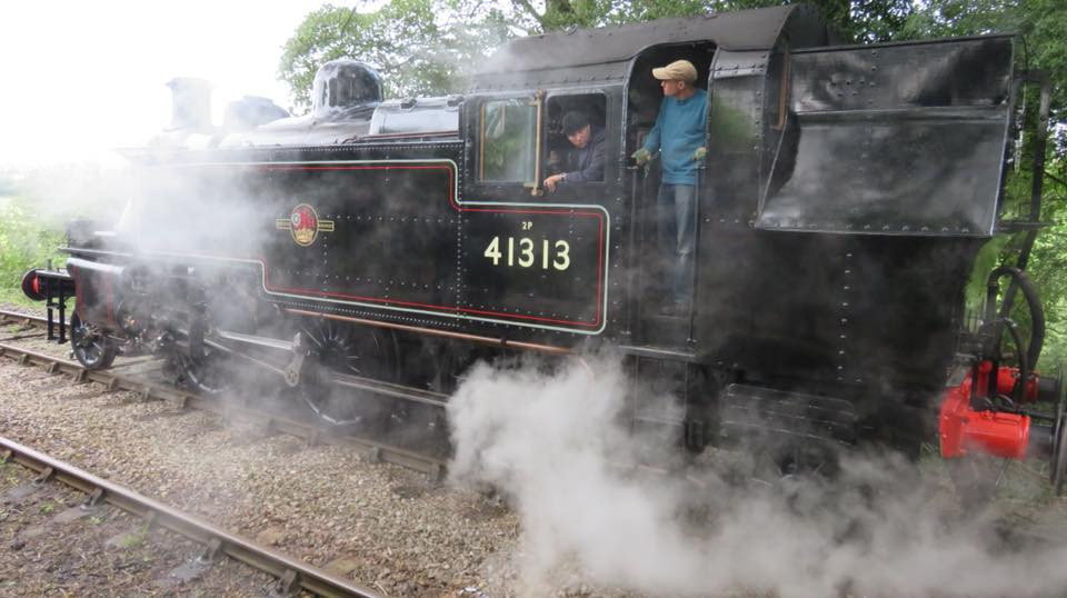 BR Ivatt Class 2MT 2-6-2T No. 41313 at the Isle of Wight Steam Railway