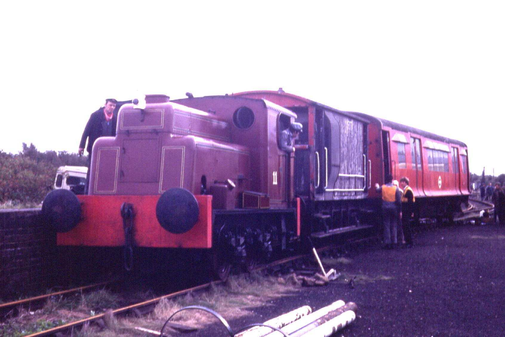 No. 11 recovering the London Underground car from the main line - 10th October 1981