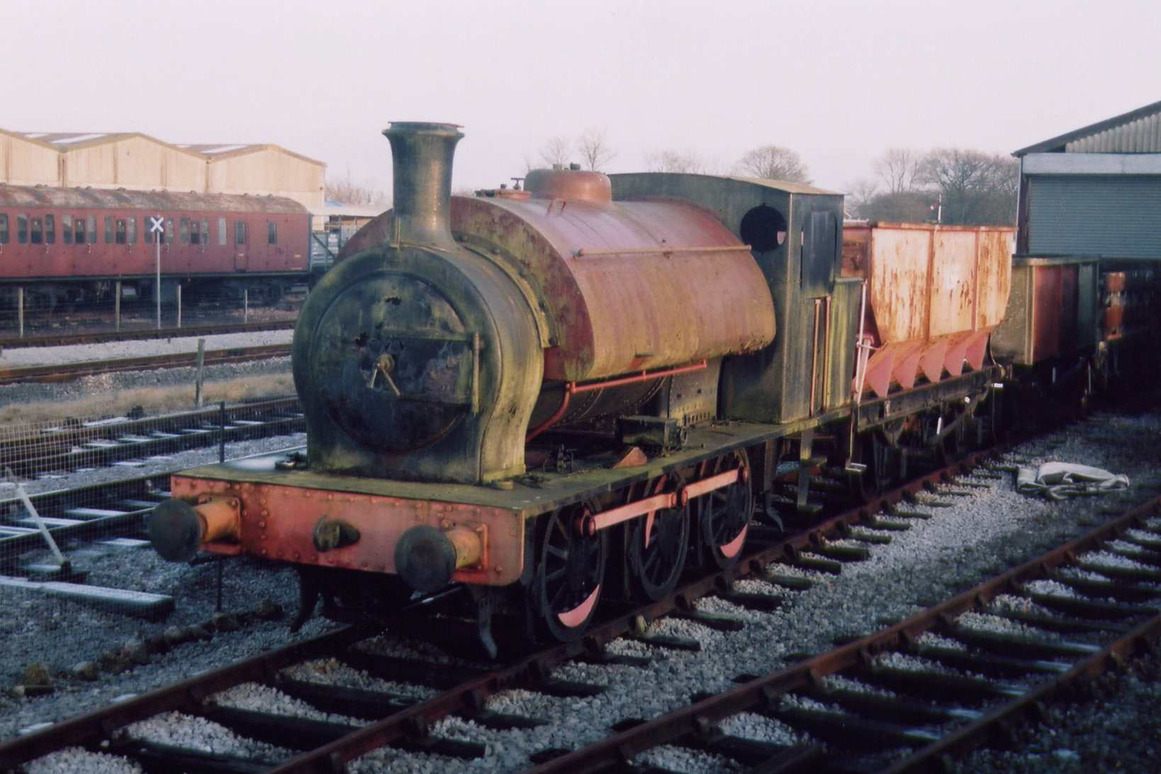 Arthur awaiting overhaul outside the Wembley Shed