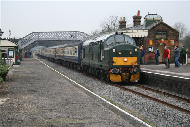 37411 hauling the Bard & Birch Railtour past the BRC