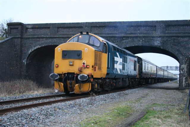 37425 tailing the Bard & Birch Railtour past the BRC