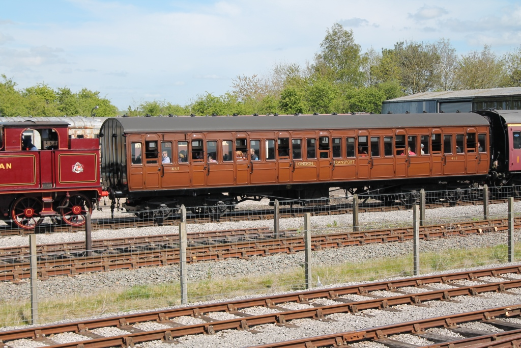 Dreadnought Metropolitan Railway Nine Compartment Third No. 465 in Quainton's Up Yard