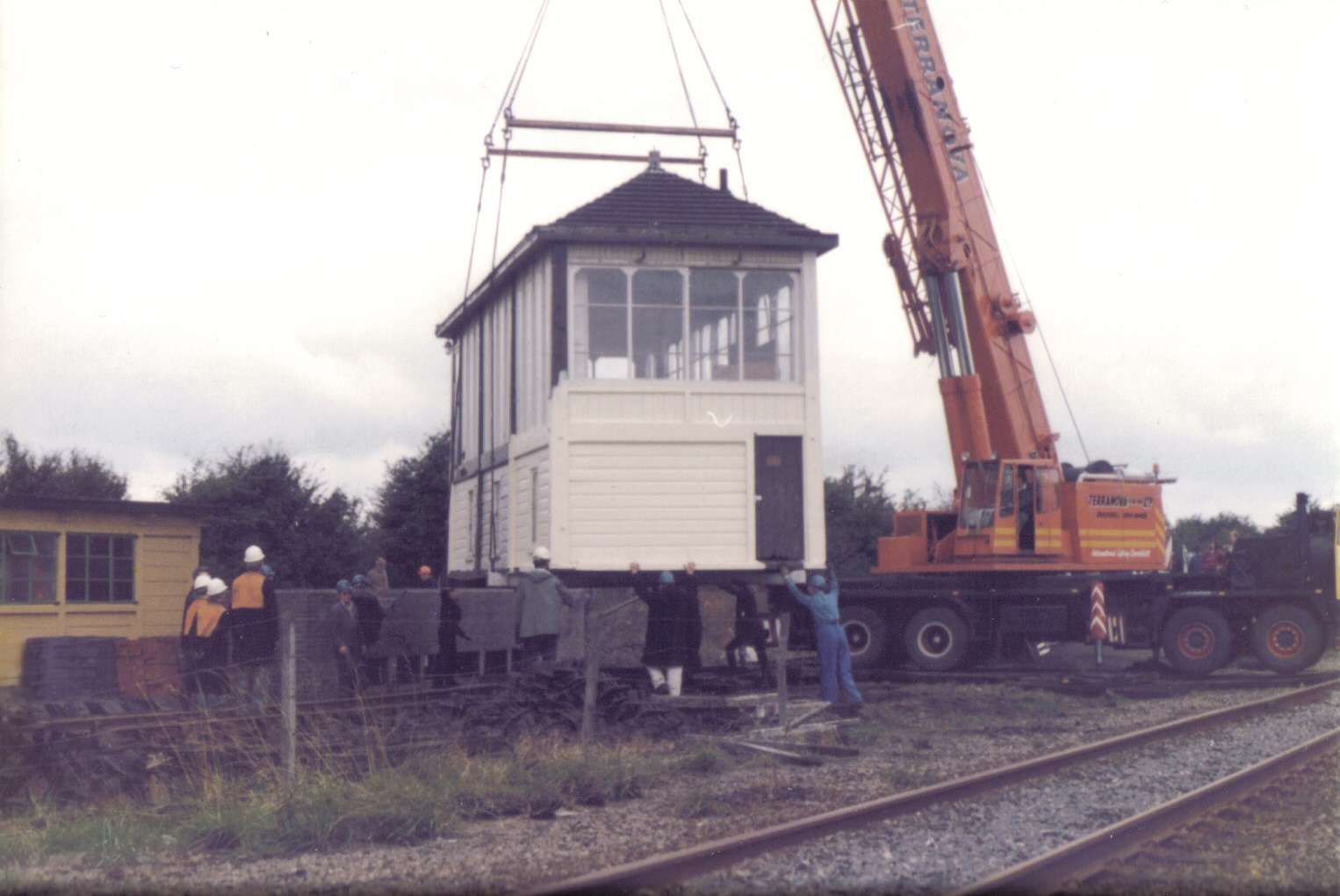 Harlington box being transfered from Up to Down Yard under Engineering possession of the British Rail line