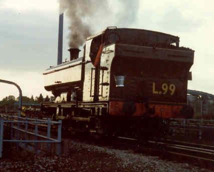 L.99 leaves Neasden at 1940hrs to collect coaching stock