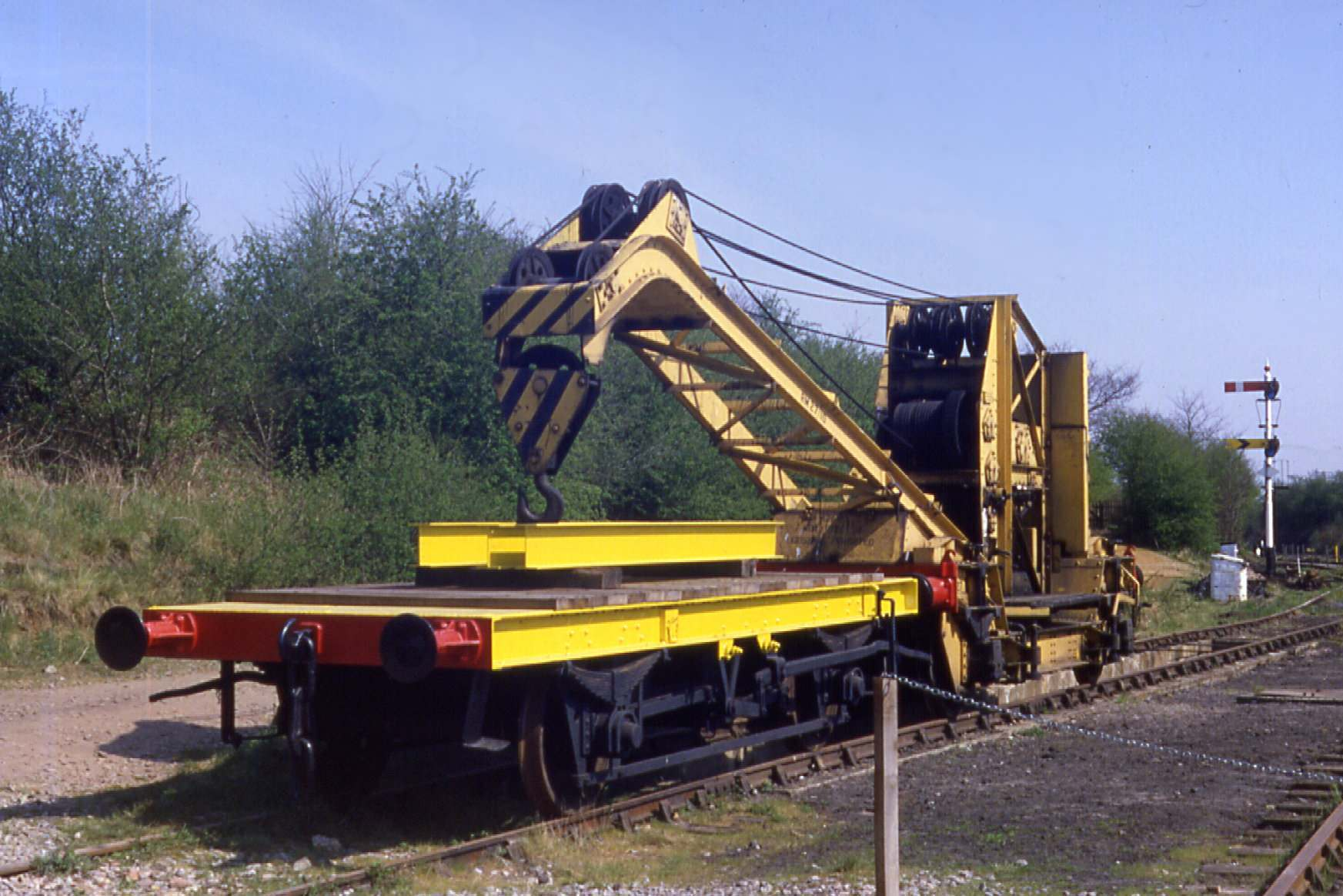 LMS 10-ton Hand Crane in the up yard