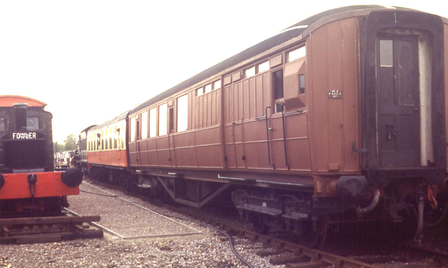 LNER Brake on Up Yard service with Mark 1 and King 6024