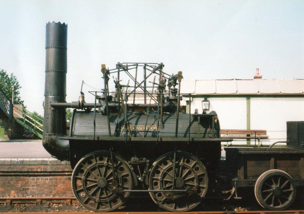The Replica Locomotion in Quainton's Down Yard