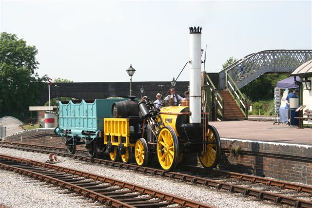 Rocket with demonstration train in Platform 3 at Quainton