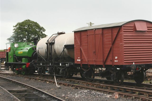 Shoc Van in short goods train in Down Yard 2009