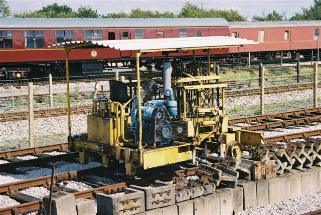 Ex-Ford Tamping Machine in Down Yard Track